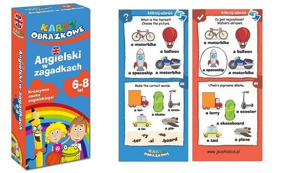 Angielski w zagadkach dla dzieci karty obrazkowe