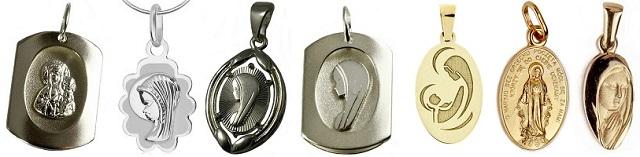 prezent na komunię świętą medalik