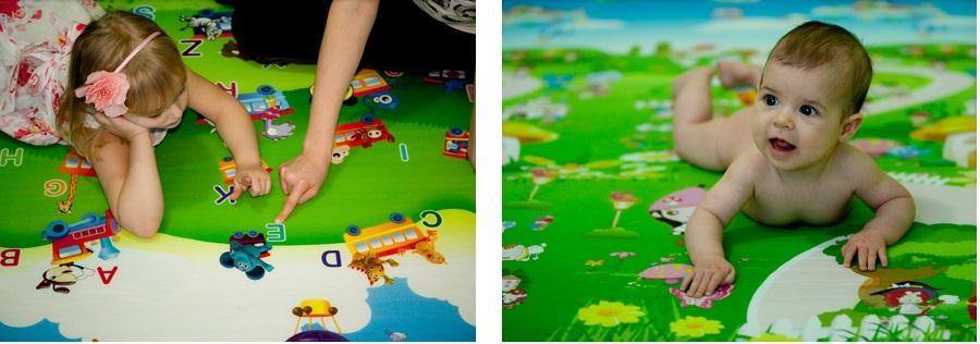 Piankowy dywanik edukacyjny dla dzieci Babypol