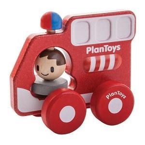 Drewniany pojazd straż pożarna, Plan Toys