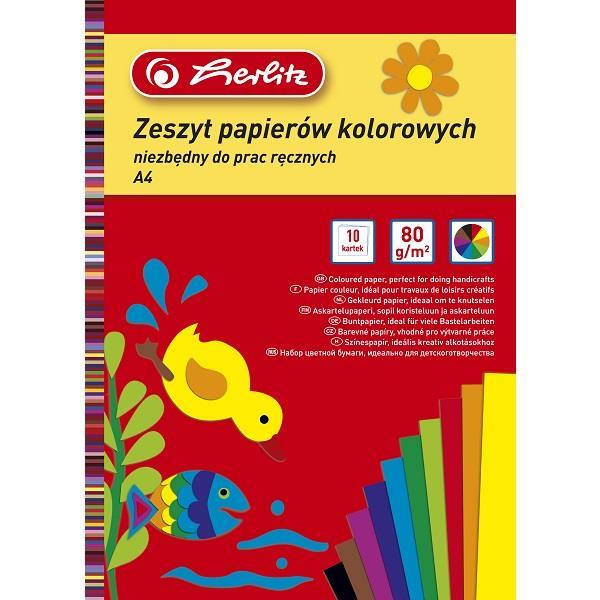 Zeszyt papierów kolorowych Herlitz