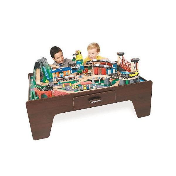 Imaginarium Drewniana kolejka górska ze stołem