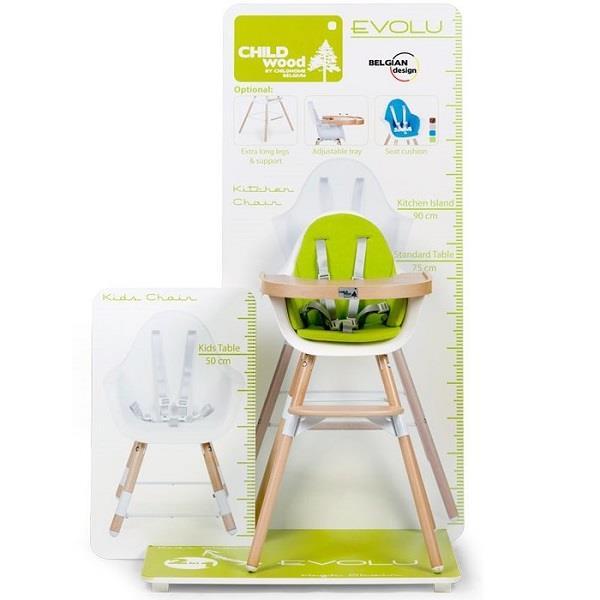 Childhome Evolu - designerskie krzesełko do karmienia