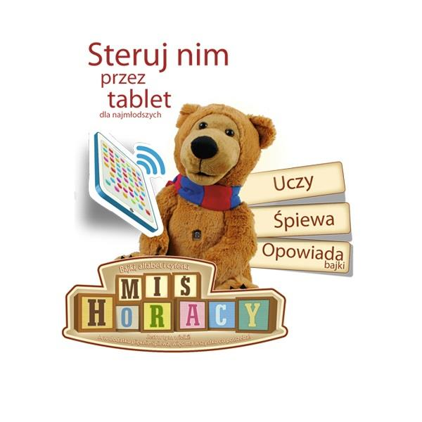 Miś Horacy z tabletem