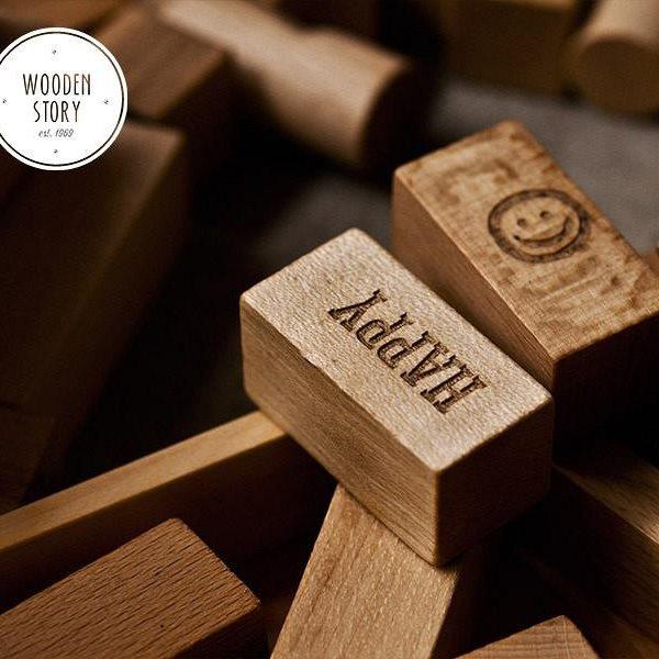 Klocki Peace&Love. Wooden Story