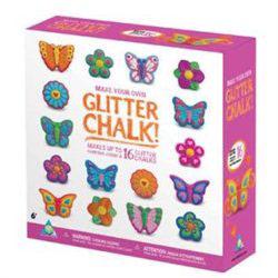 Glitter Chalk zestaw kreatywny do zrobienia kolorowej kredy