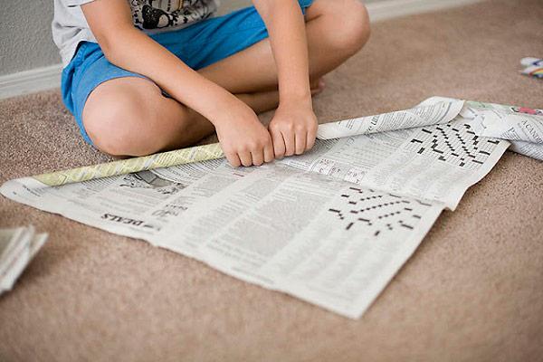 konstrukcje z gazet