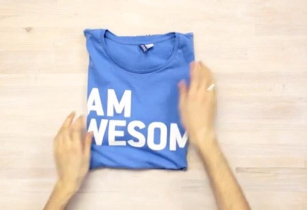 Jak składać koszulkę, kilka fajnych porad