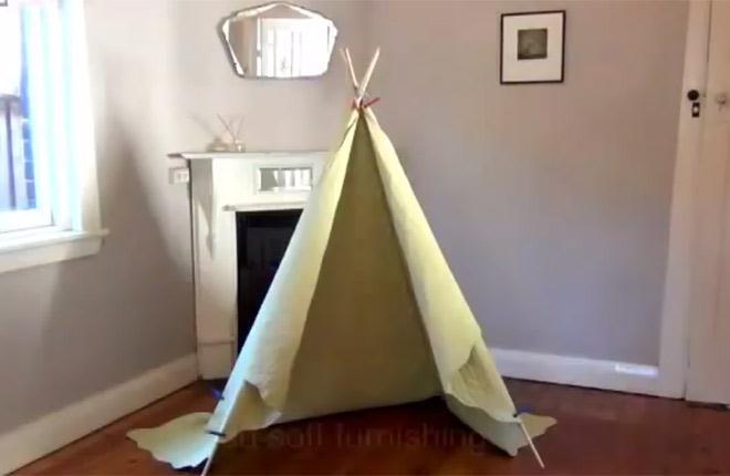 Jak zrobić namiot do pokoju dziecka