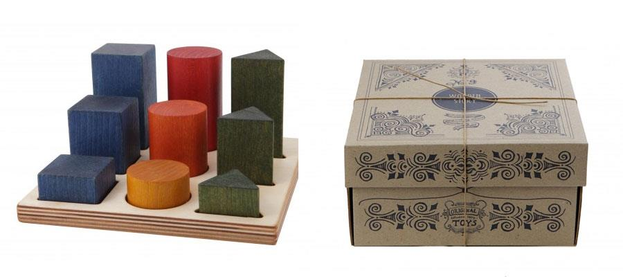 Sorter XL figury kolorowe - Wooden Story