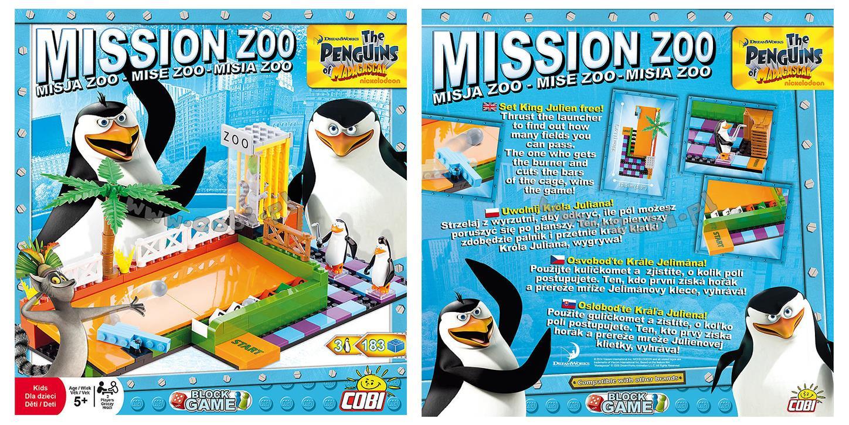 Misja ZOO - gra klockowa Pingwiny z Madagaskaru