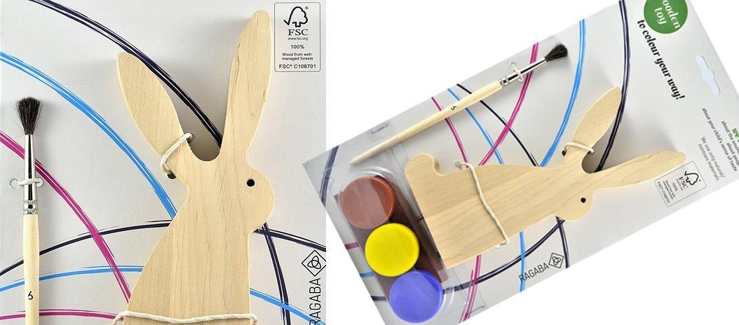 Drewniany zajączek do malowania - Ragaba