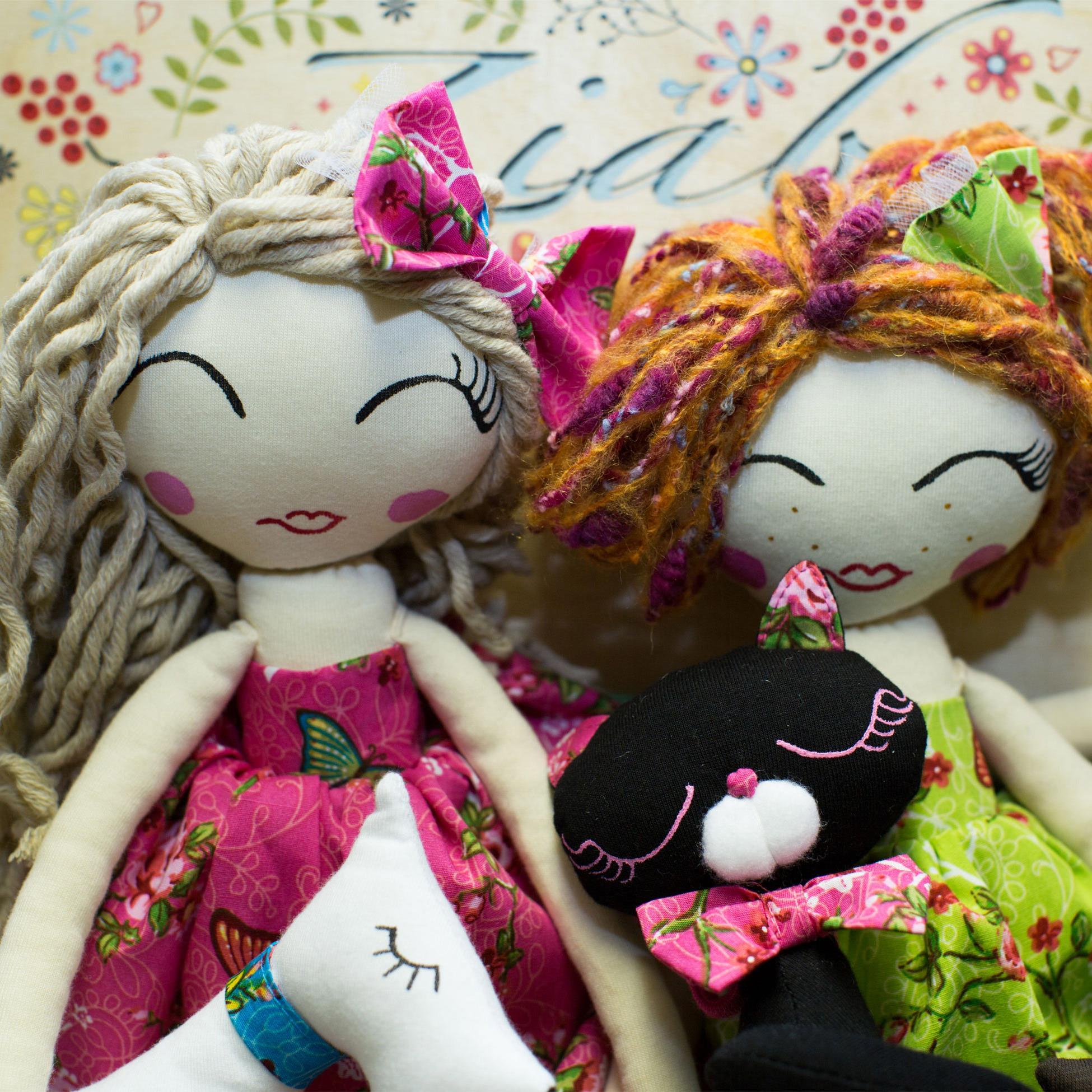 Franciszka, Teresa i Zofia- wyjątkowe, ręcznie szyte Lalki ZIABAQLU