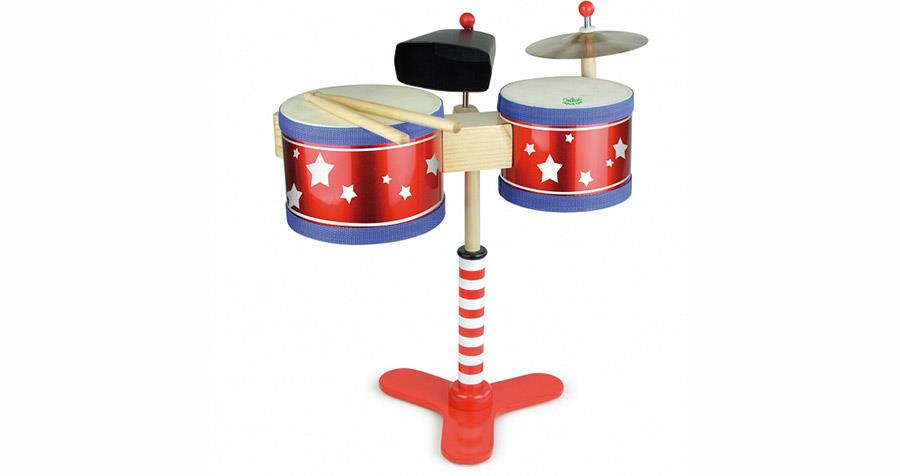 Drewniana perkusja dla dzieci