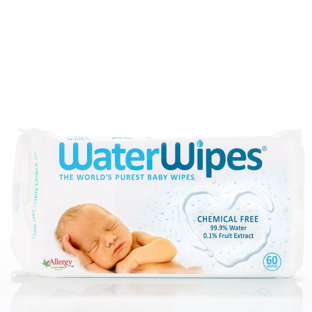 WaterWipes, Chusteczki nasączane czystą wodą, 60szt