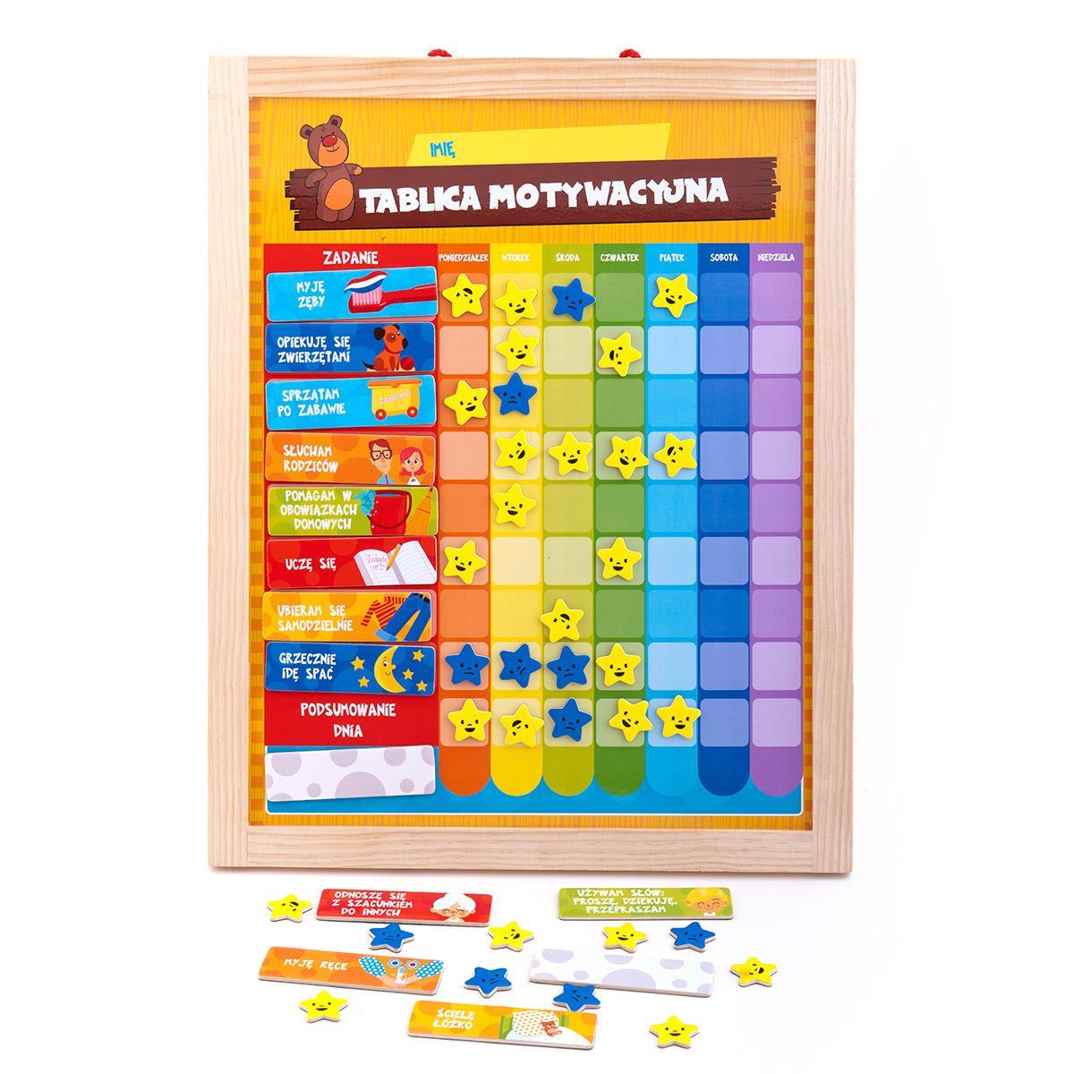 Tablica motywacyjna - Seria Zabawki Drewniane