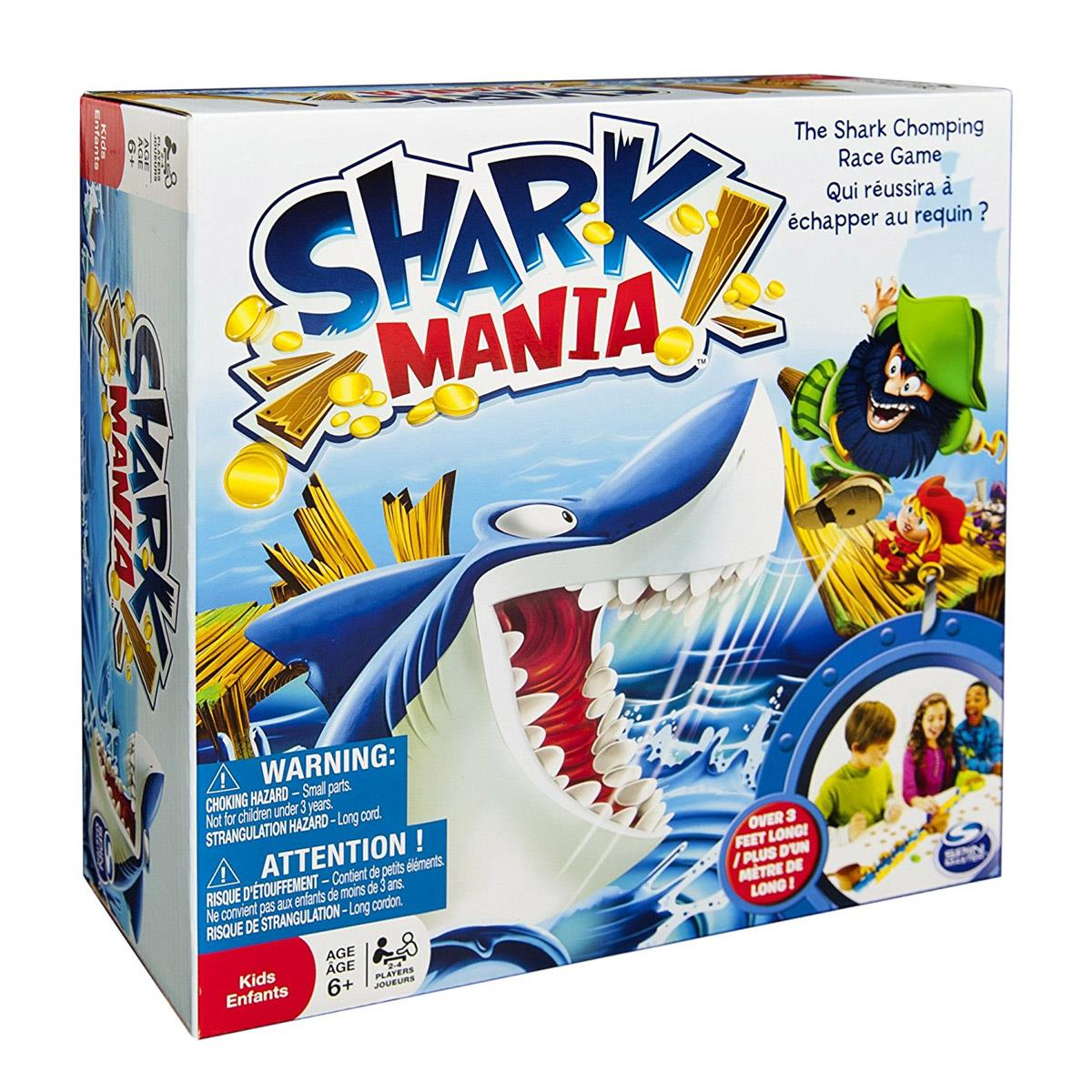 Shark Mania gra planszowa, Spin Master