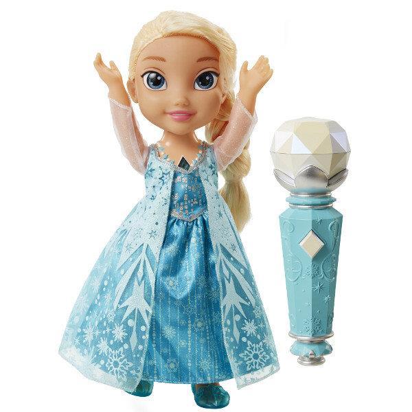 Śpiewając Elsa z Mikrofonem