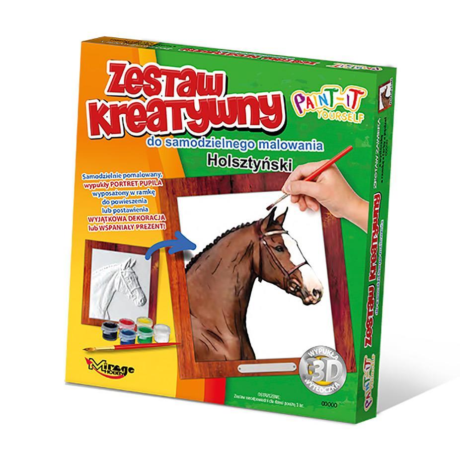 Seria Zestawów Kreatywnych do samodzielnego malowania (psy, koty, konie, futrzaki)