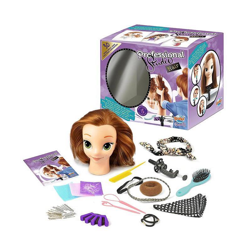 Studio fryzjerskie - Głowa lalki do stylizacji, Buki