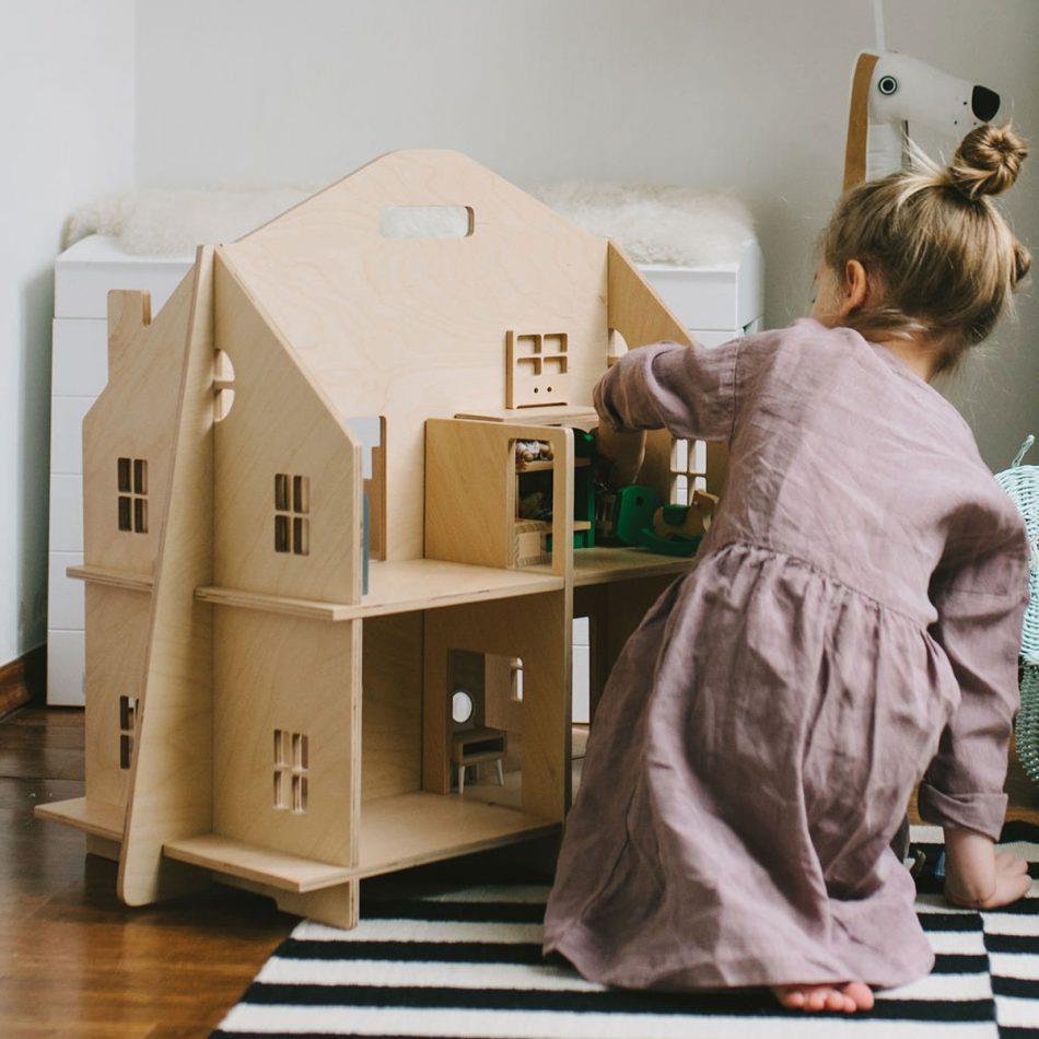 DEKORNIK Domek dla lalek składany, bez śrubek DOLL HOUSE