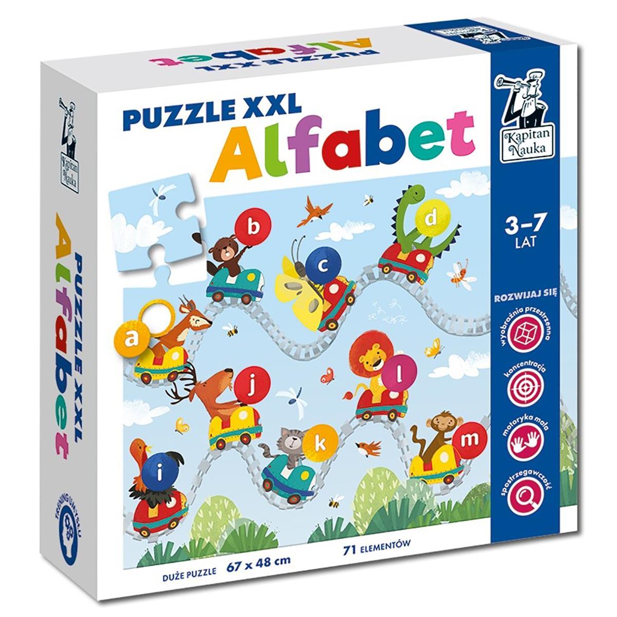 Puzzle XXL Alfabet, Kapitan Nauka