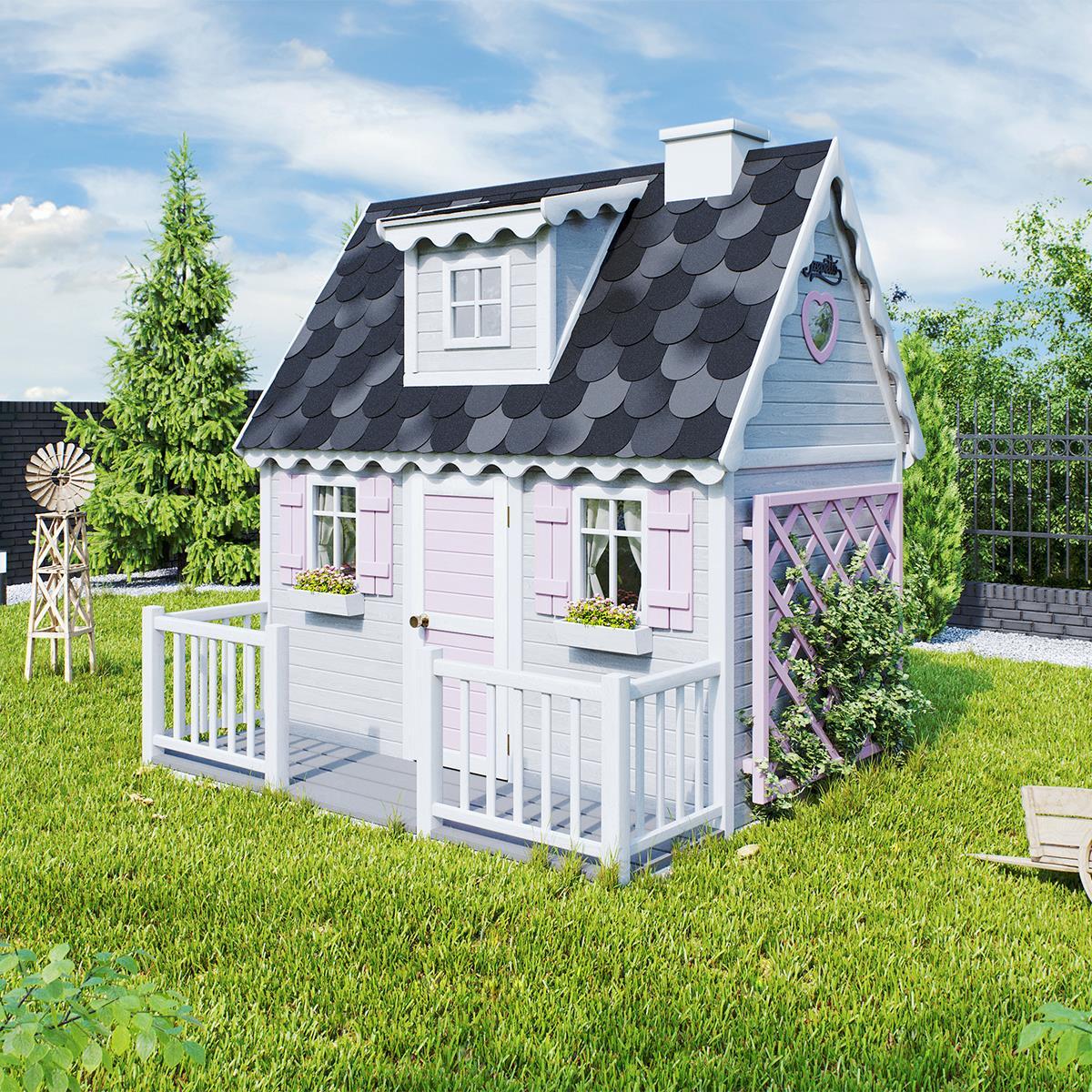 Mini Królowa - drewniany domek dla dziecka