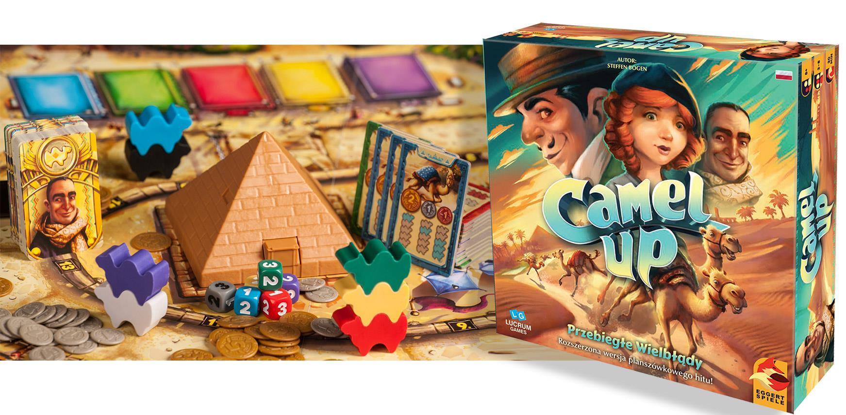 Przebiegłe Wielbłądy - Camel Up, LUCRUM Games