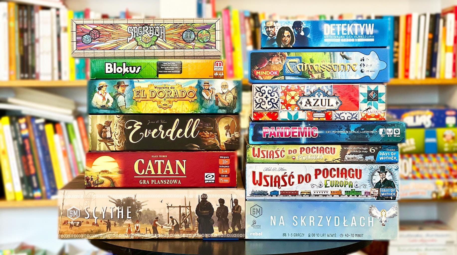 Najlepsze gry planszowe dla rodziny i dorosłych