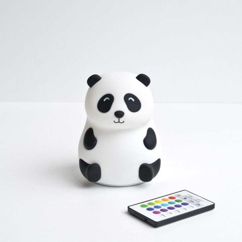 Miękka Silikonowa Lampka z Głośnikiem Miś i Panda