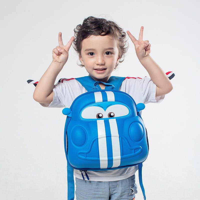 Plecaczek dziecięcy Supercute - Auto niebieskie