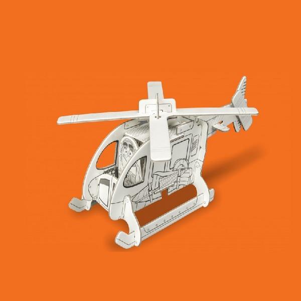 Helikopter, puzzle przestrzenne 3D z papieru.