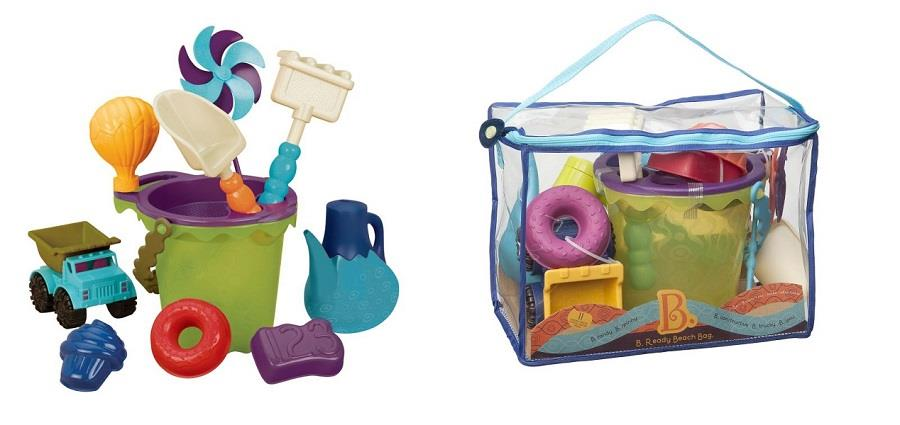 Zestaw akcesoriów do zabawy w piasku w praktycznej torbie od B.toys