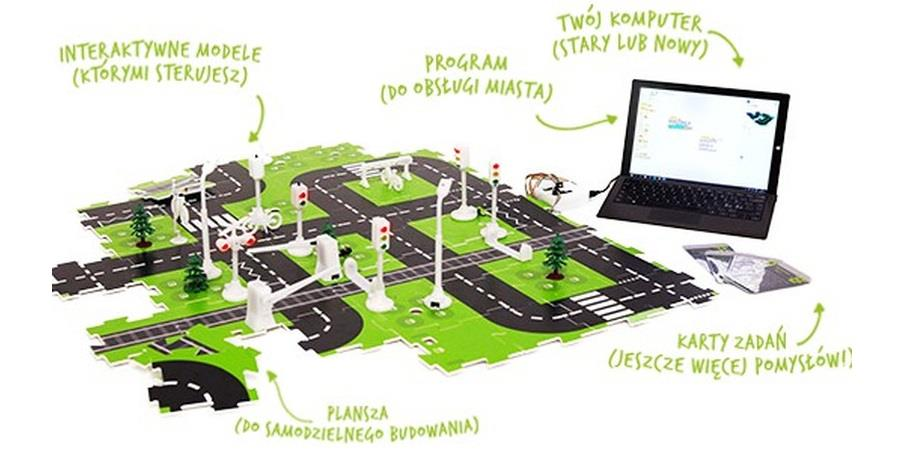 Inteligentne miasto - polski produkt uczący rodziny programowania