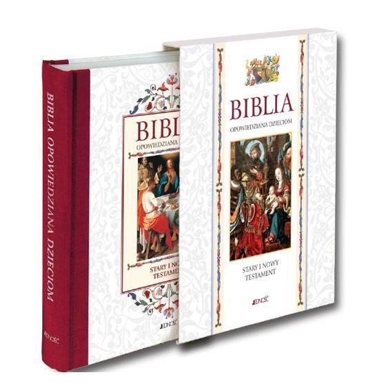 Biblia opowiedziana dzieciom Stary i Nowy Testament etui Wydawnictwo Jedność