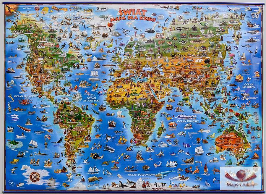 Mapa dla dzieci- Świat