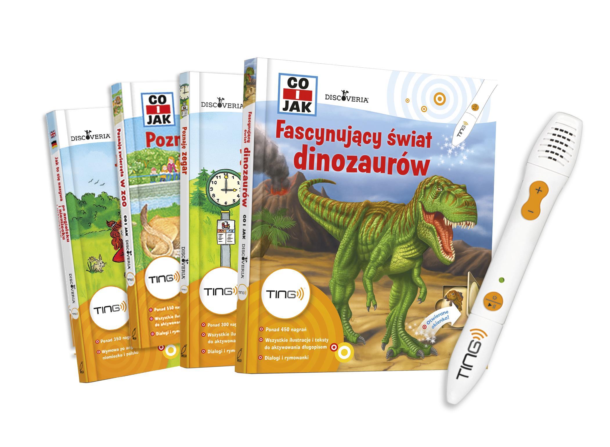Seria interaktywnych książek z długopisem TING