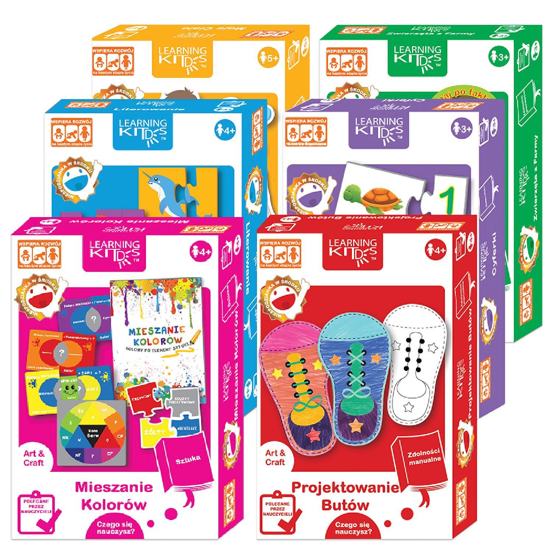 Learning Kids - puzzle i karty edukacyjne