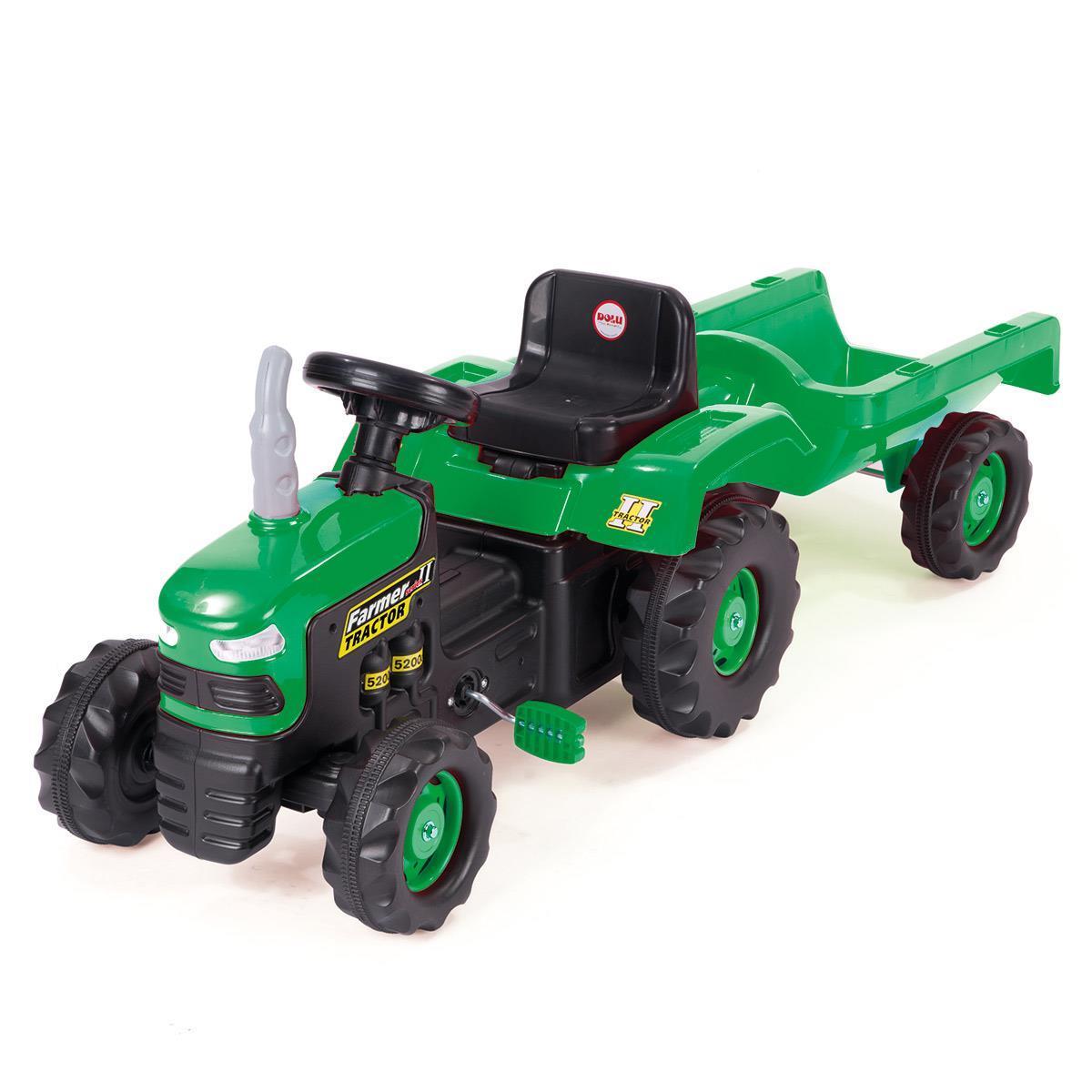 Traktor na pedały z przyczepą