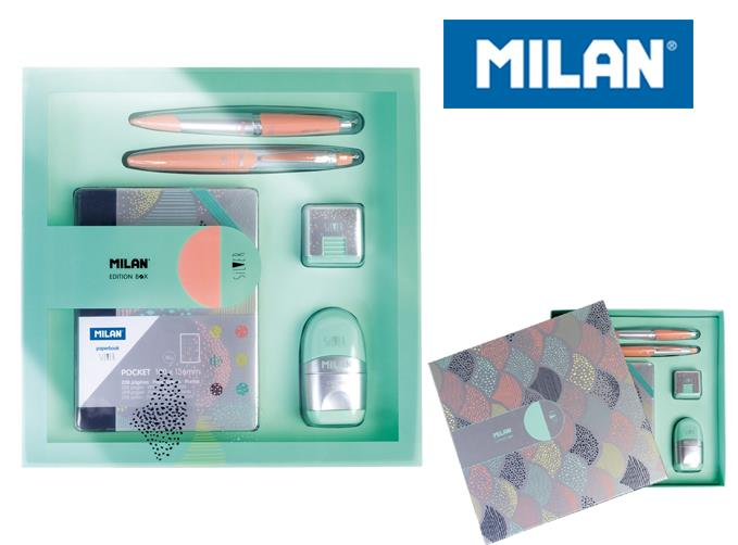 Zestaw upominkowy MILAN SILVER mix kolorów.
