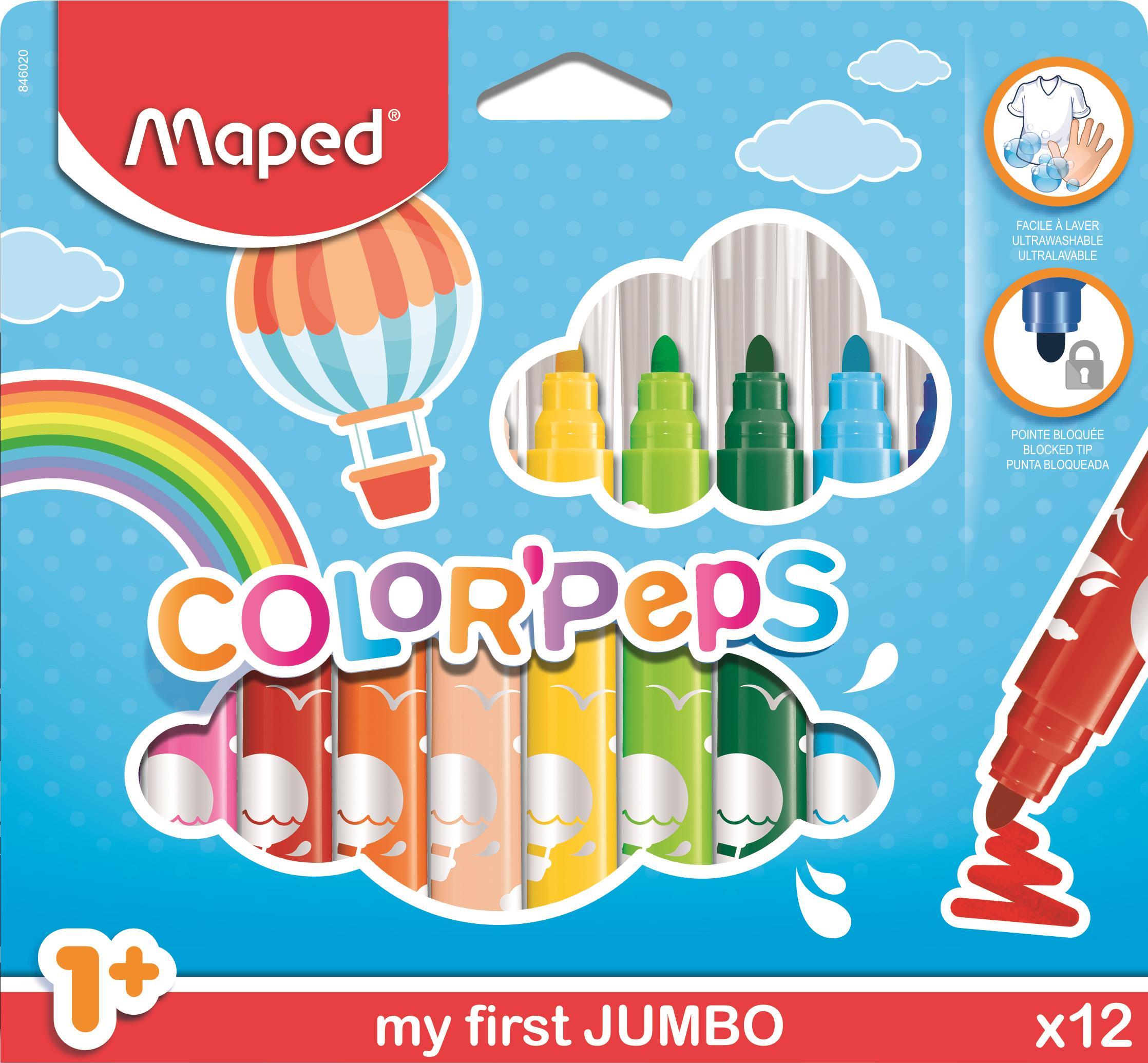 Flamastry Maped Jumbo Color'Peps
