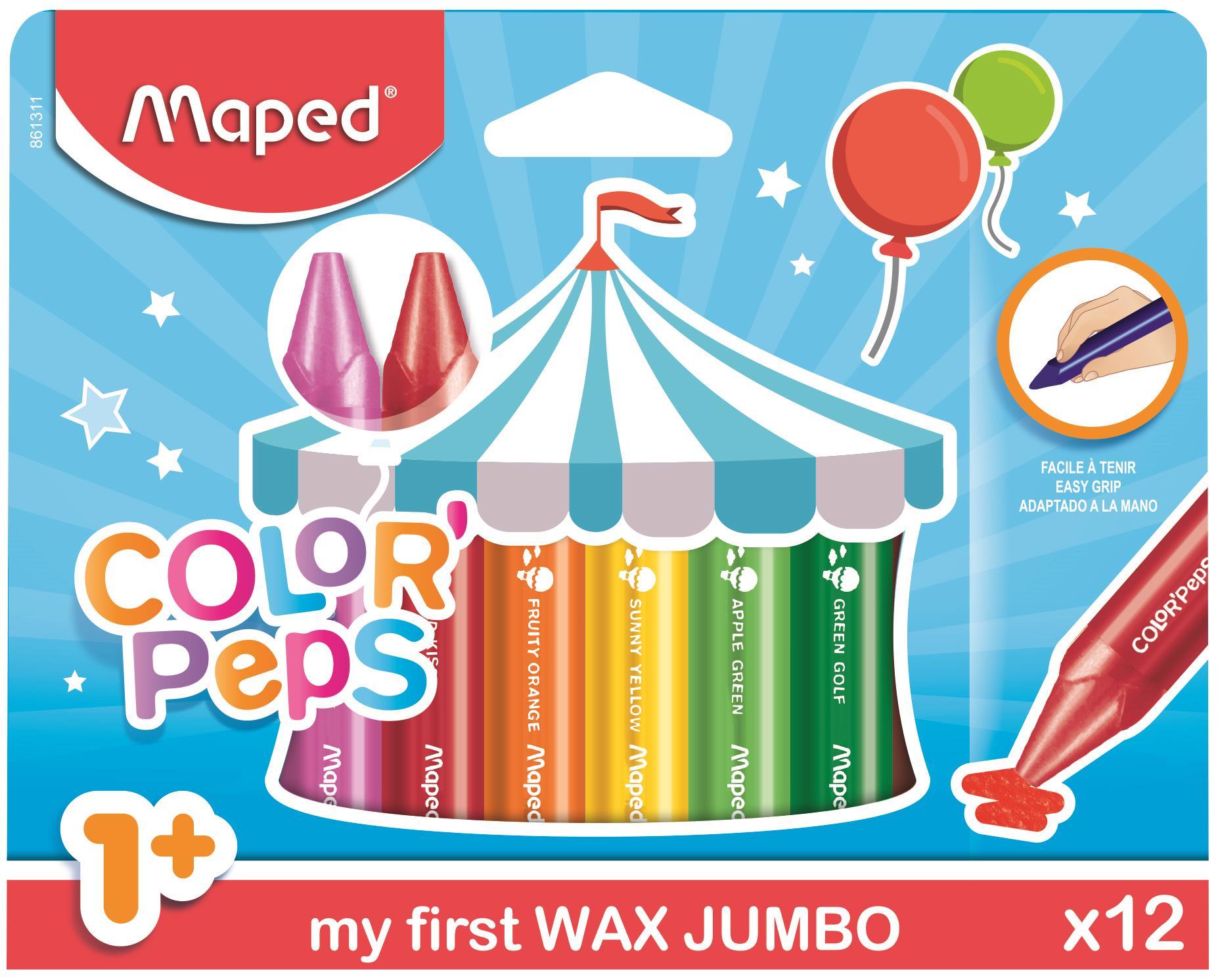 Kredki świecowe Maped Jumbo Color'Peps